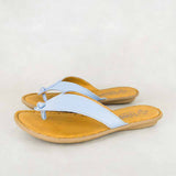 Ishadi : Ladies Leather Tslops Sandal in Alaska Cayak