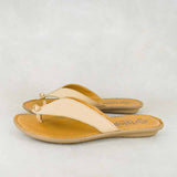 Ishadi : Ladies Leather Tslops Sandals in Stone Relaxa