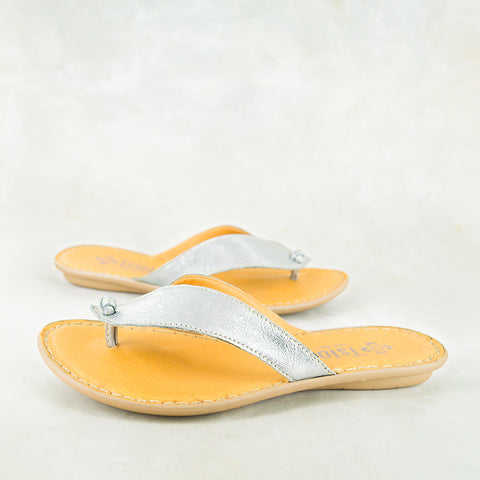 Izinkuni : Ladies Leather Sandal in Hazel Relaxa Sale