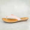 Ishadi : Ladies Leather Tslops Sandal in Rose Cayak