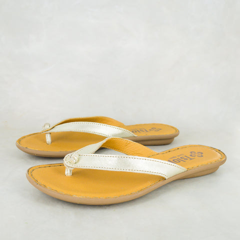 Esitolo : Ladies Leather Tslops Sandal in Hazel Relaxa Sale