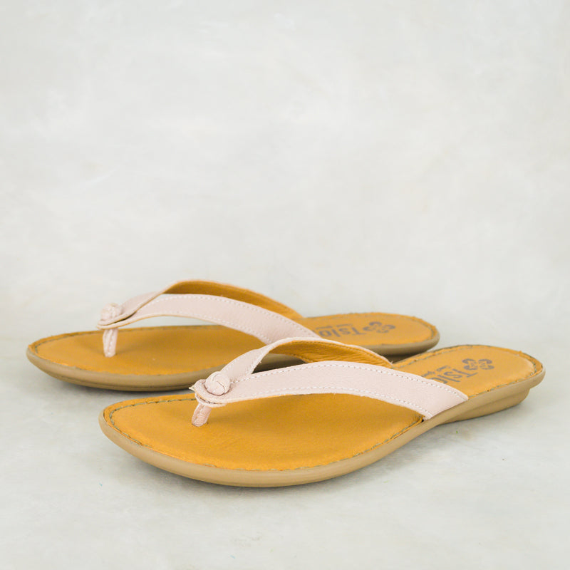 Esitolo : Ladies Leather Tslops Sandal in Rose Cayak Sale