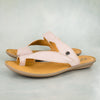 Avele : Ladies Leather Tslops Sandal in Rose Cayak
