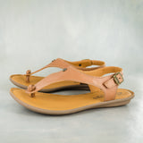 Ovaroli : Ladies Leather Tslops Sandal in Hazel Relaxa