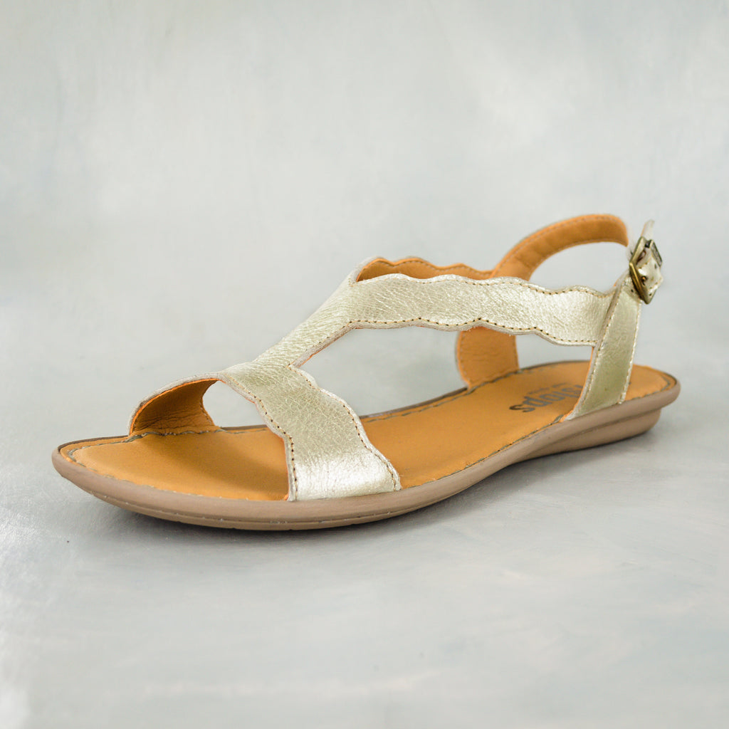 Isafari : Ladies Leather Tslops Sandal in Bark Domus