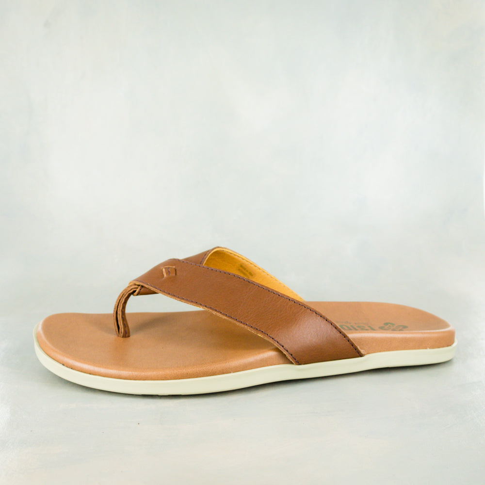 Lotaba : Mens Leather Tslops Sandal in Rosie Colt