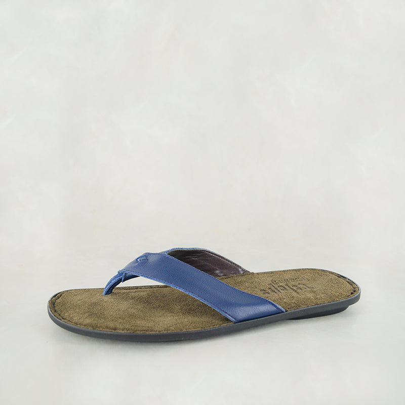 Umhlanga : Mens Leather Tslops Sandal in Airone Deep Ocean Sale