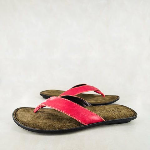 Seyili : Mens Leather Sandals in Choc Vintage