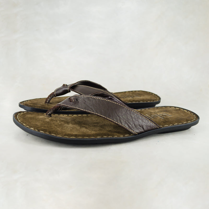 33a27d0b6d0 Umhlanga : Mens Leather Tslops Sandal in Choc Delta