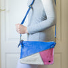 Adea : Ladies Leather Crossbody Handbag in Olympic, Cream & Marble Cayak
