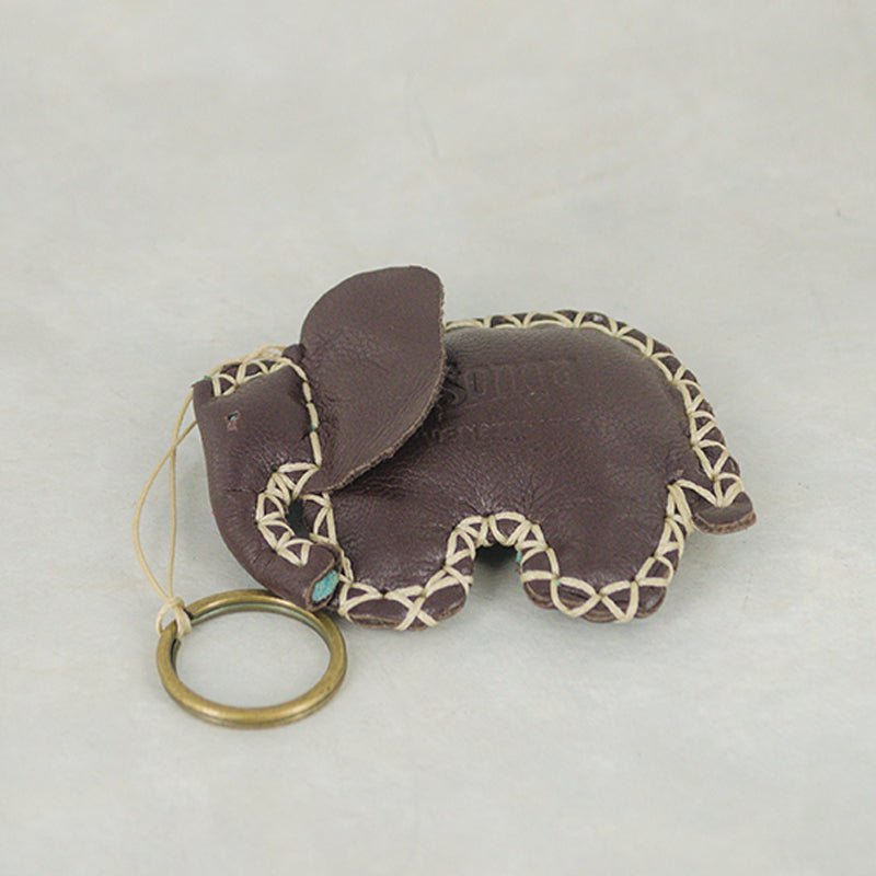 Elephant Keyring in Assorted Leathers