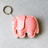 Elephant Key Ring in Assorted Leathers