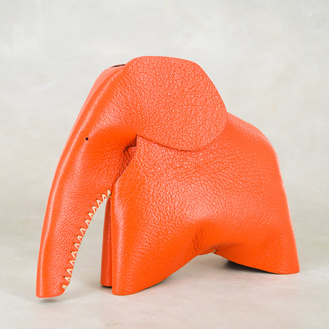 Marula : Large Elephant Family Accessory in Green Leather