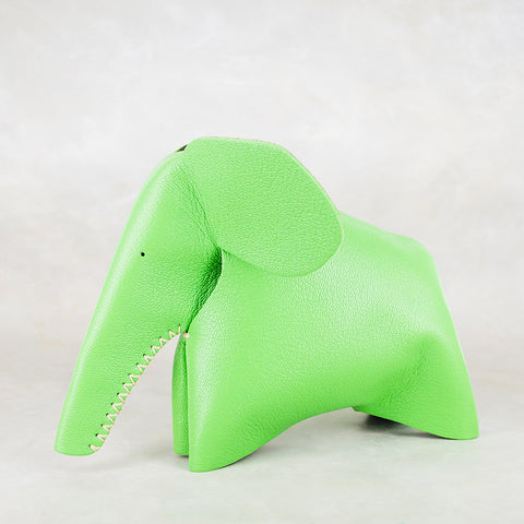 Peaches : Medium Elephant Family Accessory in Blue Leather