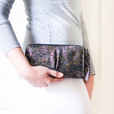 Olwethu : Ladies Leather Clutch Purse in Nero Batik