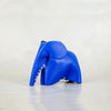 Parva : Small Elephant Family Accessory in Blue Leather