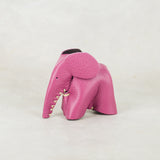 Parva : Small Elephant Family Accessory in Pink Leather