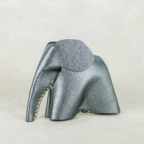Marula : Large Elephant Family Accessory in White Leather