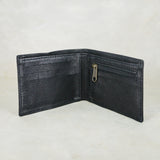 Pico : Mens Leather Wallet with Coin Compartment in Black Cayak