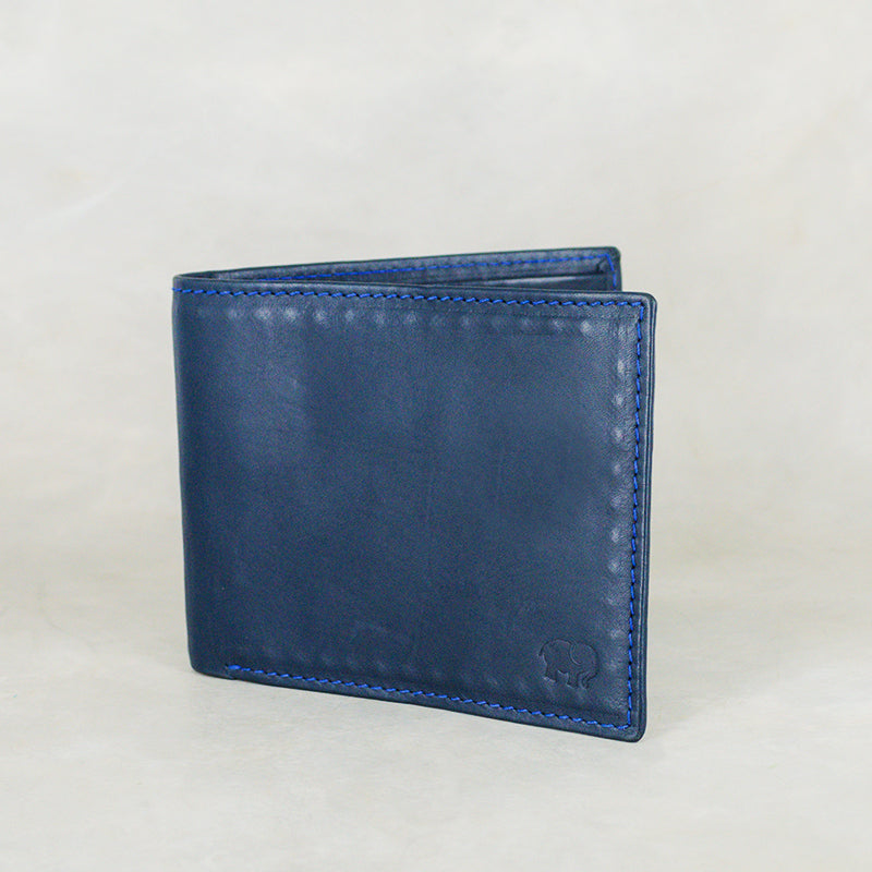 Senzo : Mens Leather Wallet in Ocean Relaxa