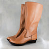 Vutha : Ladies Leather Mid-Calf Boot in Hazel Relaxa