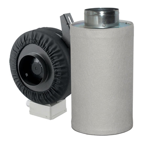 "Fan and Filter Combo - 4""-Inline Fan with 4""-300mm Carbon Filter"