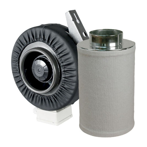 "Fan and Filter Combo - 6""-Inline Fan with 6""-400mm Carbon Filter"