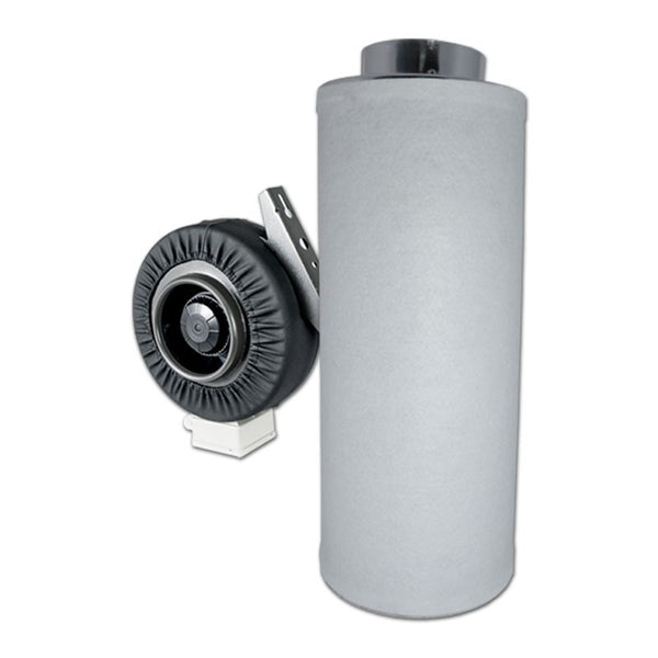 "Fan and Filter Combo - 8""-Inline Fan with 8""-600mm Carbon Filter"