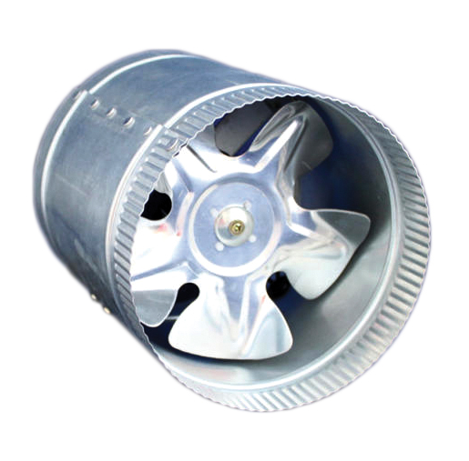 "Gro1 - 10"" In-Line Duct Booster Fan -580 cfm"
