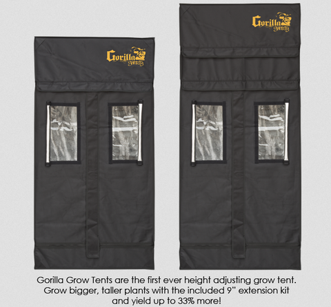 2' x 2.5' Gorilla Grow Tent Shorty