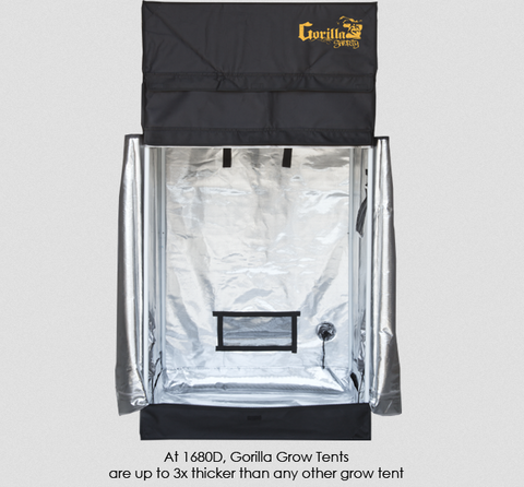 3' x 3' Gorilla Grow Tent Shorty