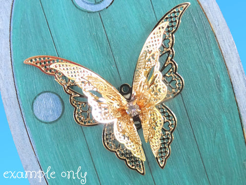 Skyla's Golden Butterfly Door