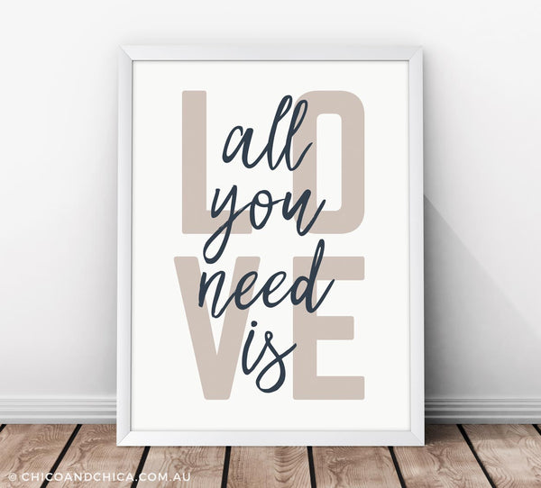 Scandinavian Love - All You Need Is Love - Kids Print - Chico & Chica - Chico & Chica