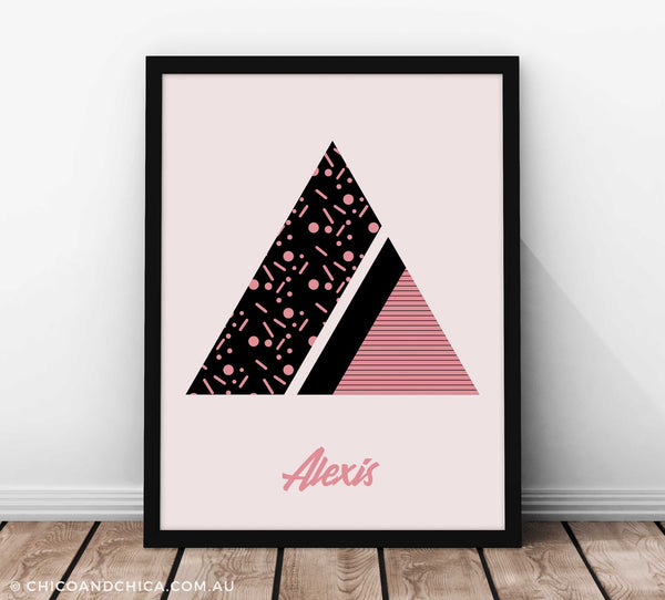 Art Deco Girl Alphabet Letter - Pink - Kids Print - Chico & Chica - Chico & Chica