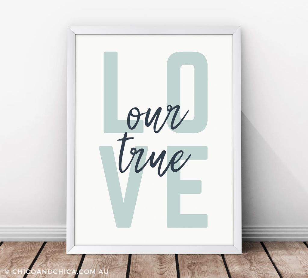 Scandinavian Love - Our True Love - Kids Print - Chico & Chica - Chico & Chica