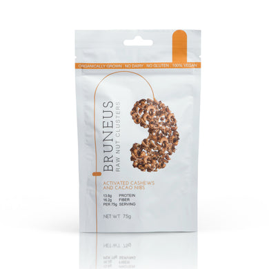BRUNEUS Activated Cashews and Cacao Nibs (30g or 75g)