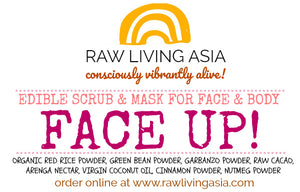 FACE UP! Edible detoxifying scrub and mask