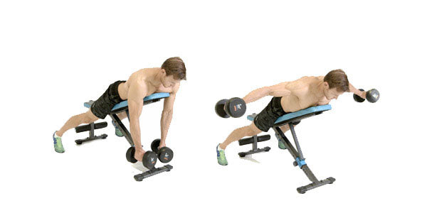Reverse incline dumbbell flies