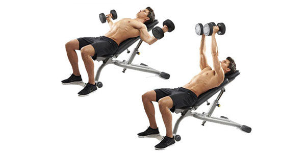 Incline dumbbell pec flyes