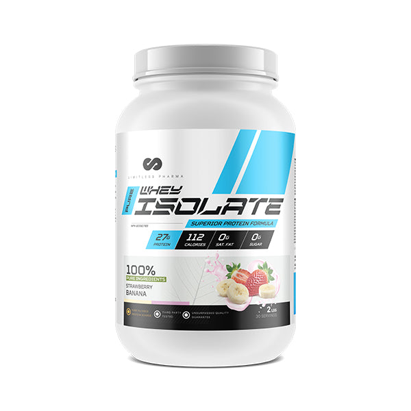 PURE WHEY ISOLATE 2LBS - Strawberry Banana
