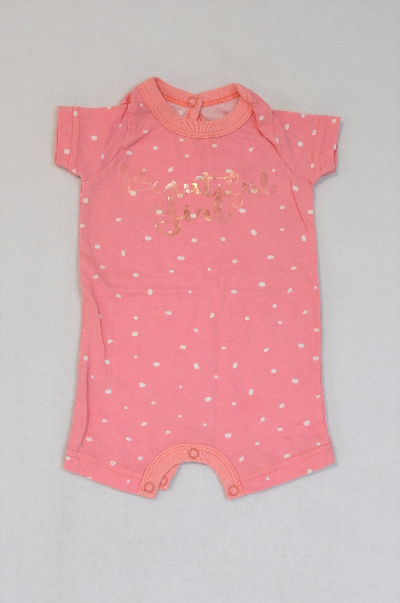 Woolworths Pink & White Dotty Beautiful Girl Romper Girls N-B