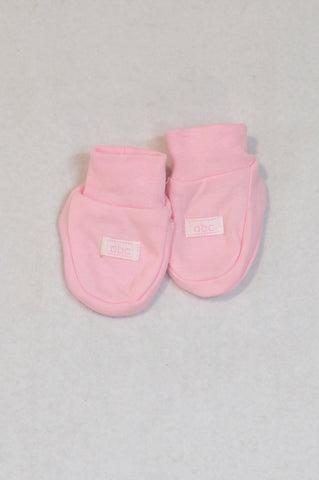 Ackermans size 0 Soft Pink Booties Girls Tiny Baby