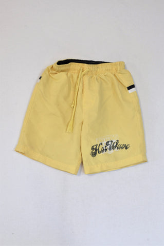 Ackermans Soft Yellow Swim Shorts Boys 3-4 years