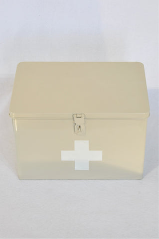 Unbranded Cream Medium First Aid Storage Tin Unisex