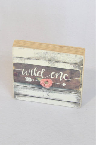 Unbranded Wild One Wooden Block Decor Unisex