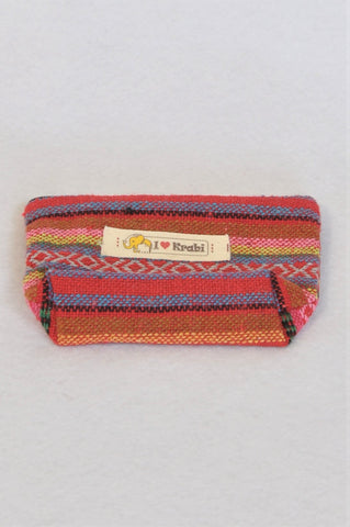 Unbranded I Heart Krabi Colourful Thai Woven Coin Purse Bag Girls 5+ years