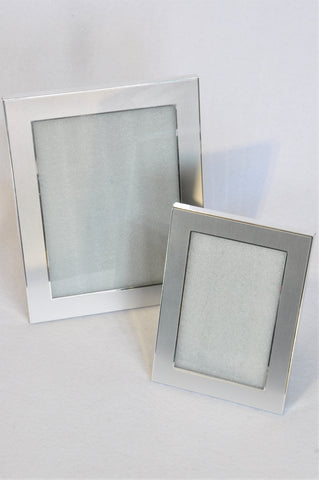 Unbranded 2x Silver Photo Frame Set Different Size Decor Unisex
