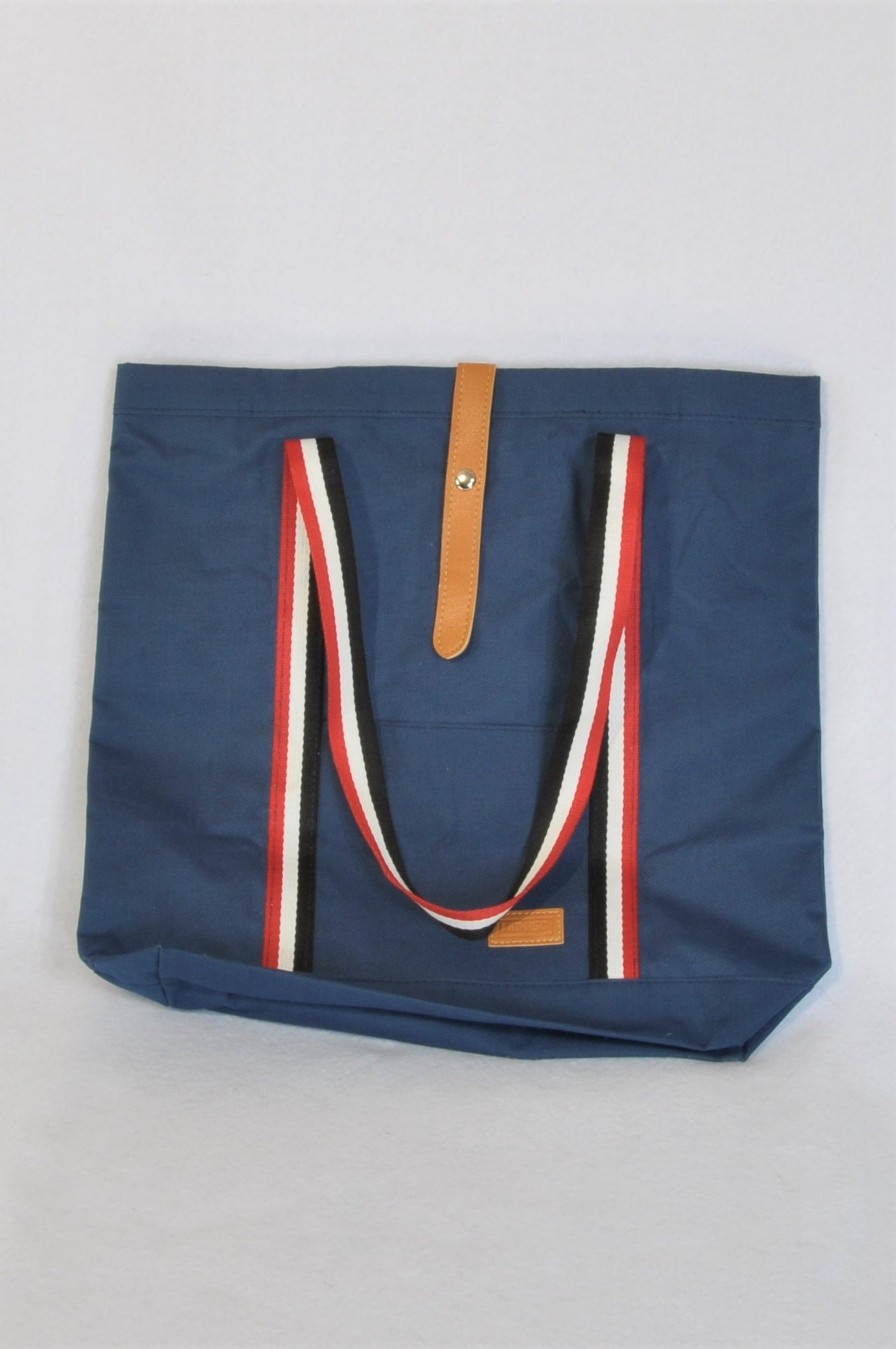 Miniso Navy With Red and White Strap Beach Bag Women