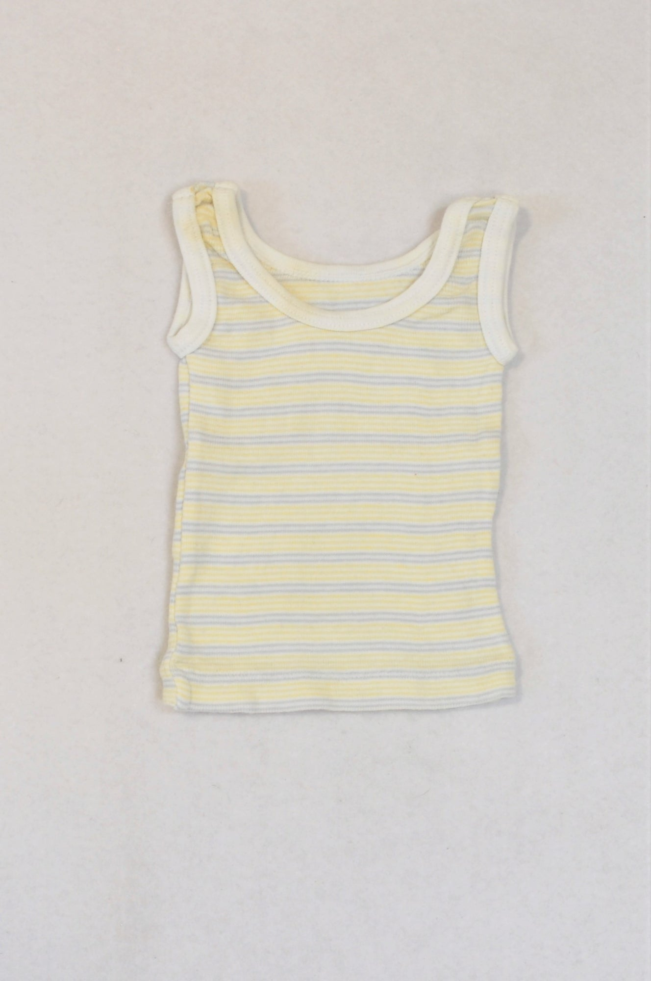 Woolworths Soft Yellow & Blue Tank Top Unisex 0-3 months