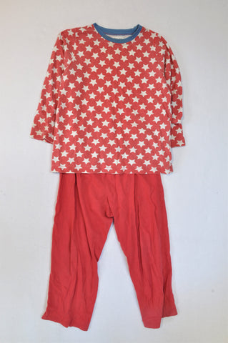 I Am Jax Red White Star T-Shirt & Red Pants Pyjamas Boys 5-6 years